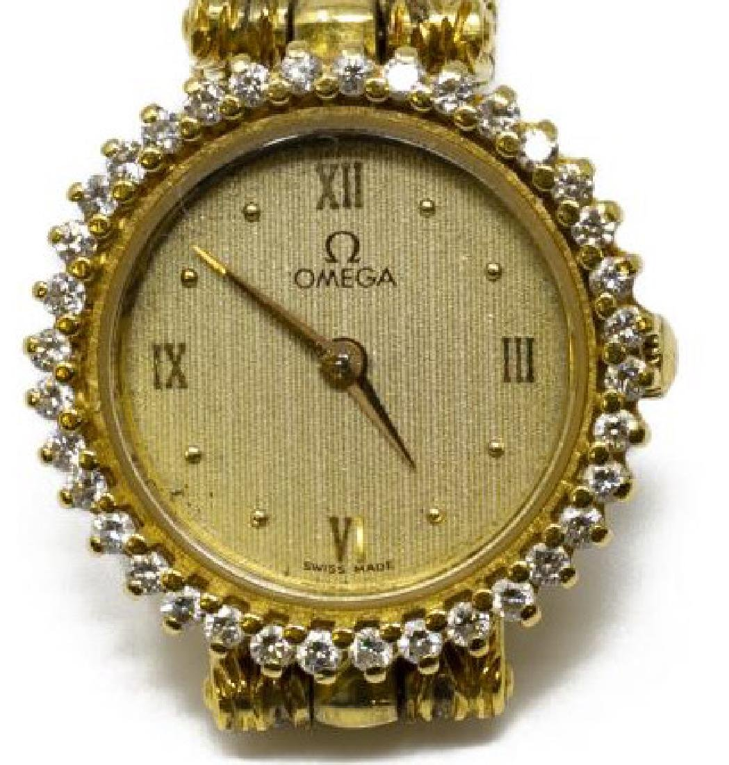 ESTATE OMEGA 18KT GOLD & DIAMOND WRISTWATCH FOR SCRAP - 2