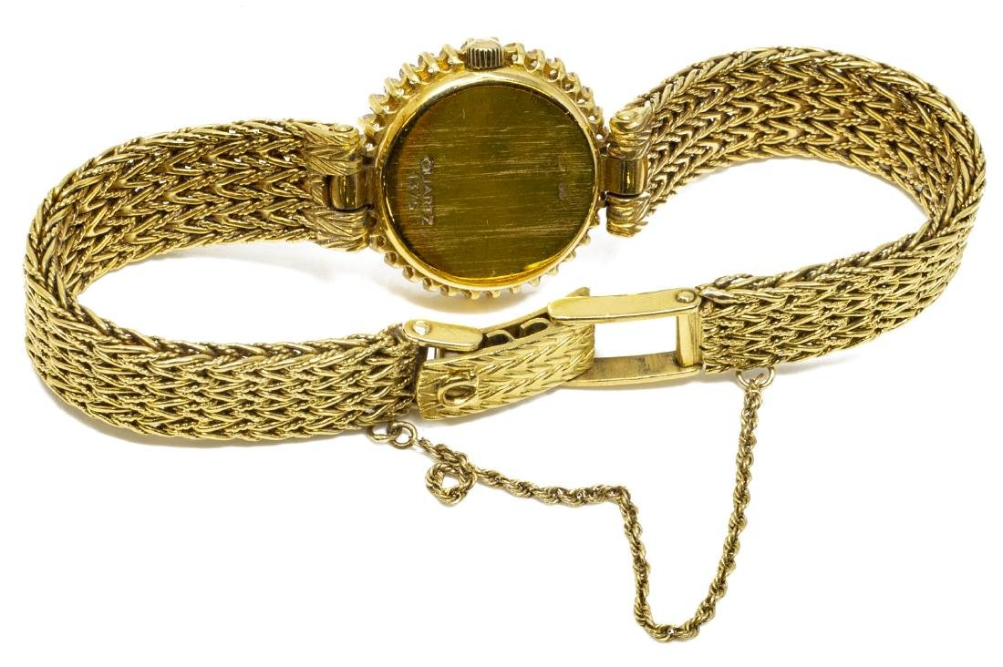 ESTATE OMEGA 18KT GOLD & DIAMOND WRISTWATCH FOR SCRAP - 4