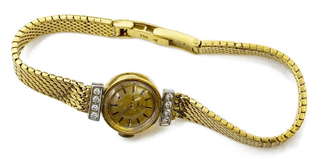 ESTATE LADIES OMEGA 18KT GOLD & DIAMOND WRISTWATCH - 2