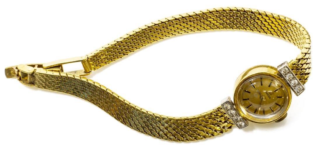ESTATE LADIES OMEGA 18KT GOLD & DIAMOND WRISTWATCH - 4