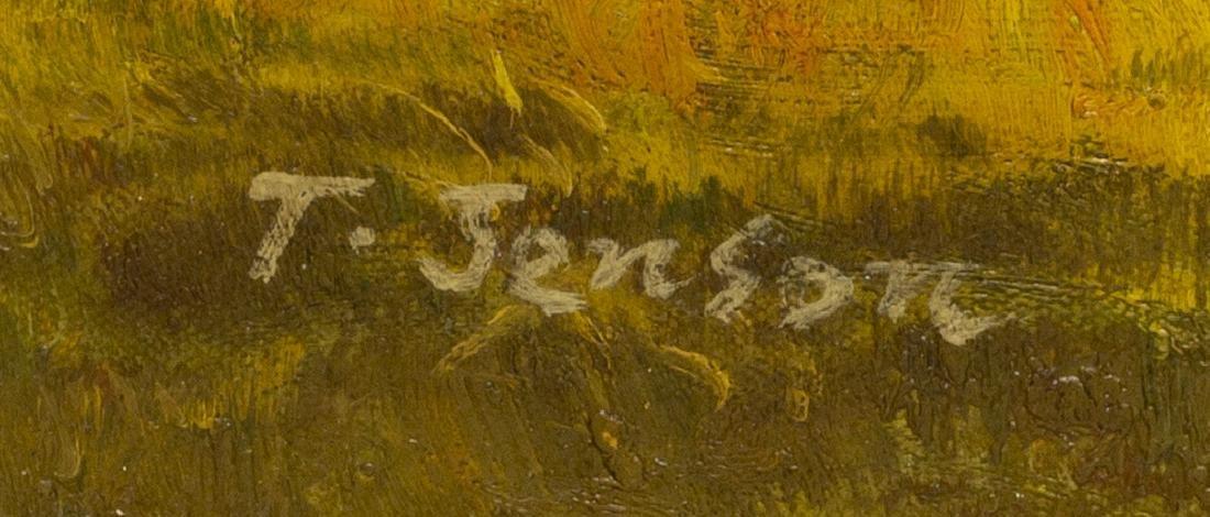 FRAMED OIL ON CANVAS PAINTING, HORSE & JOCKEY - 4