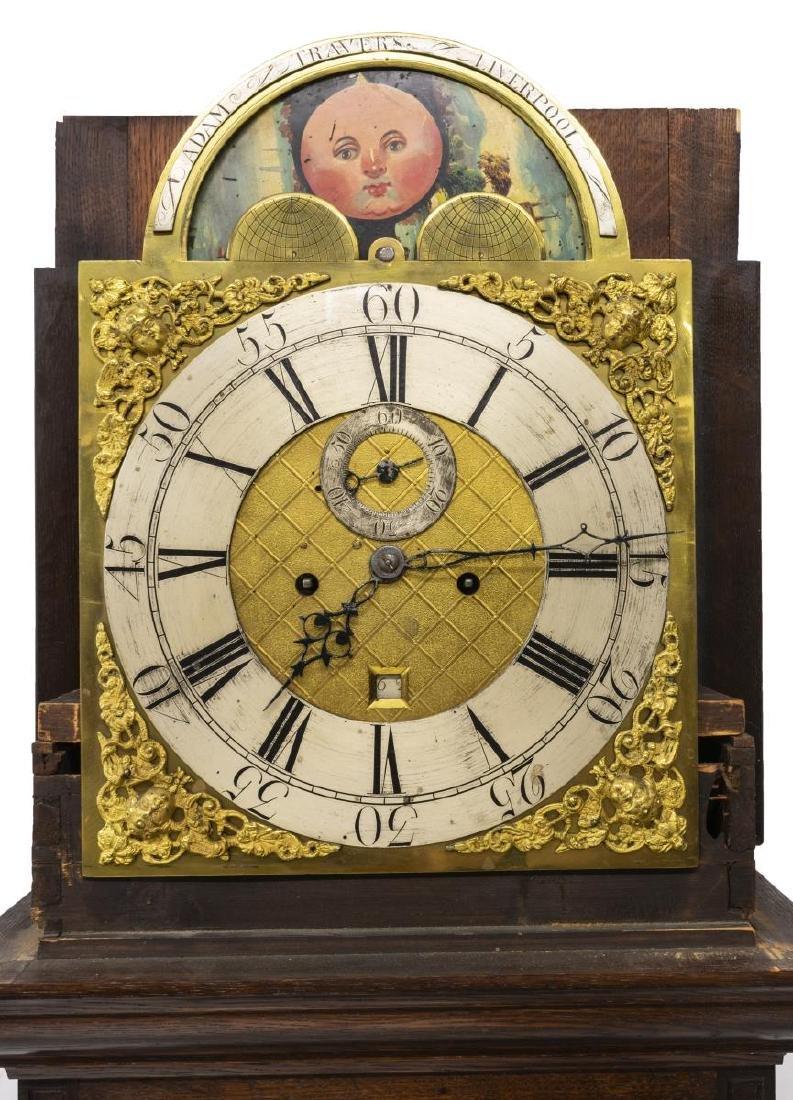 ENGLISH GEORGE III ADAM TRAVERS TALL CASE CLOCK - 5