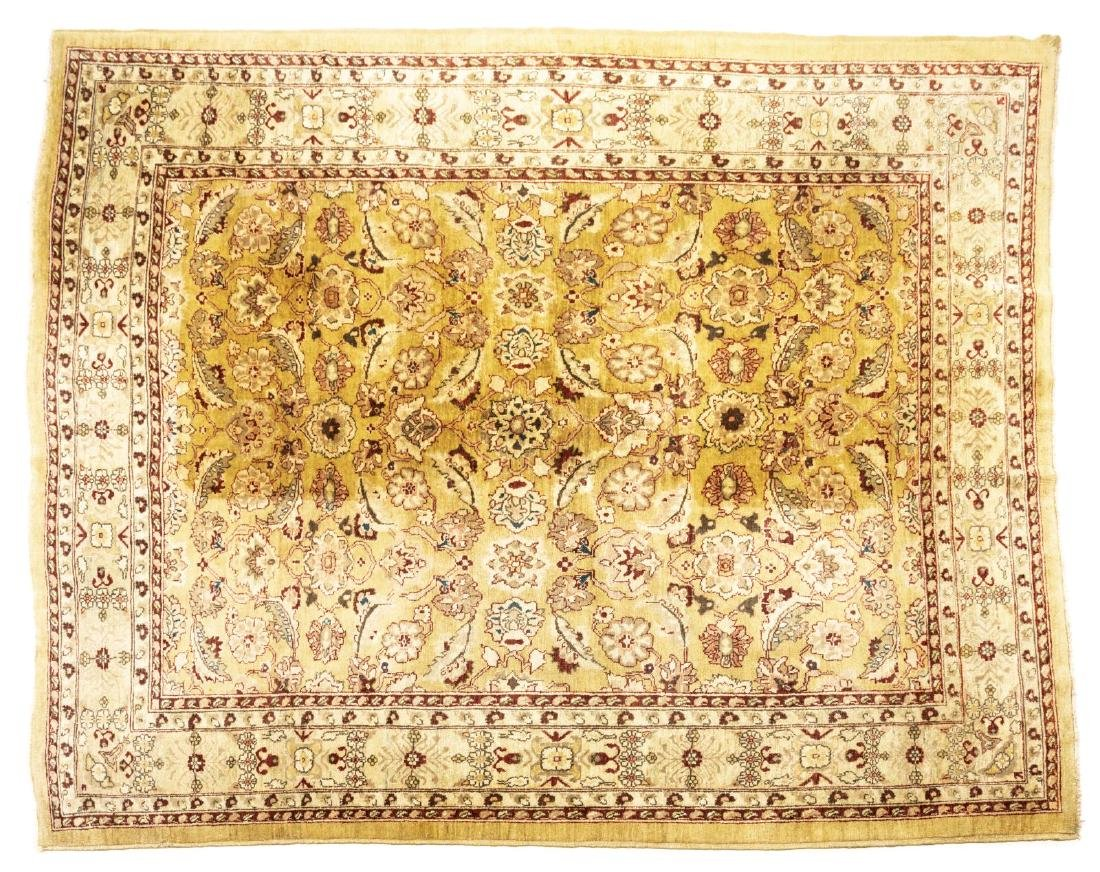 """PERSIAN STYLE HAND-TIED WOOL RUG, 9'3"""" X 7'9"""""""