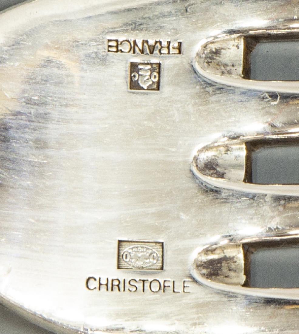 (39) CHRISTOFLE 'RUBANS' SILVERPLATE FLATWARE SET - 4