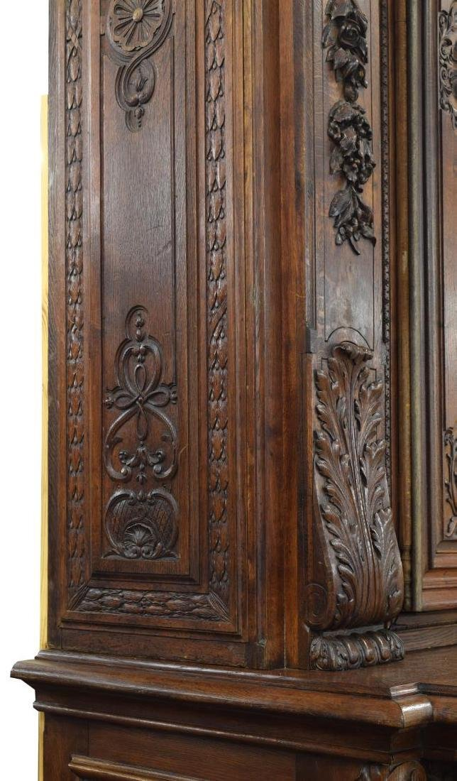 """MONUMENTAL FRENCH FIGURAL CARVED BOOKCASE, 142""""H - 5"""