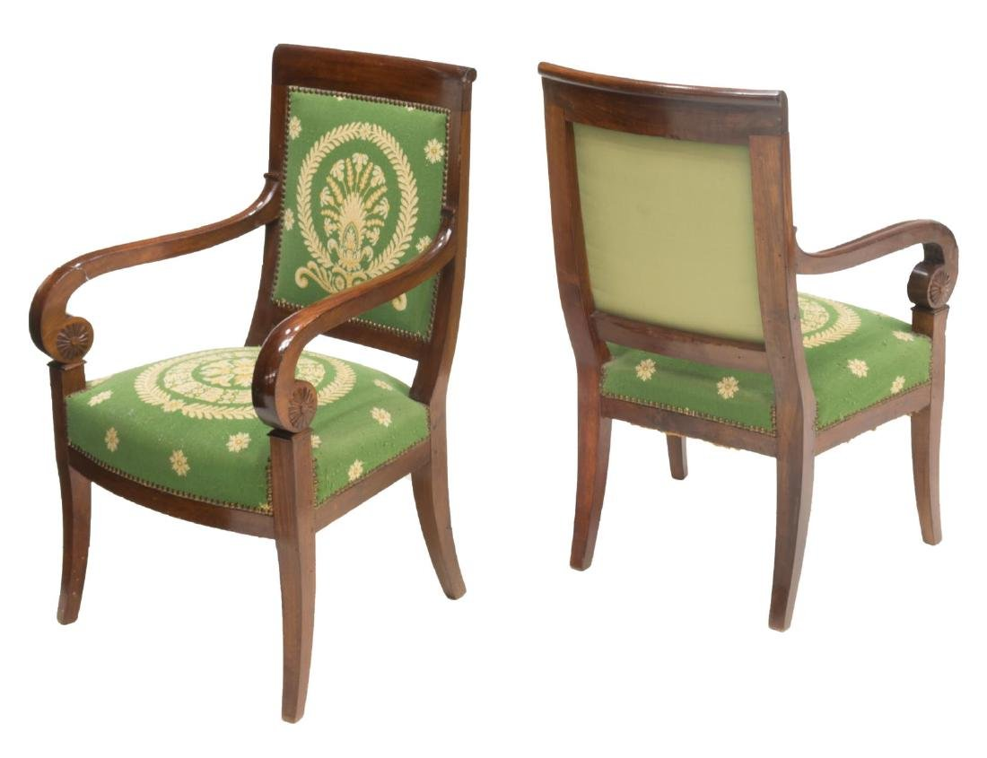 (6) FRENCH EMPIRE STYLE TAPESTRY ARM CHAIRS - 2