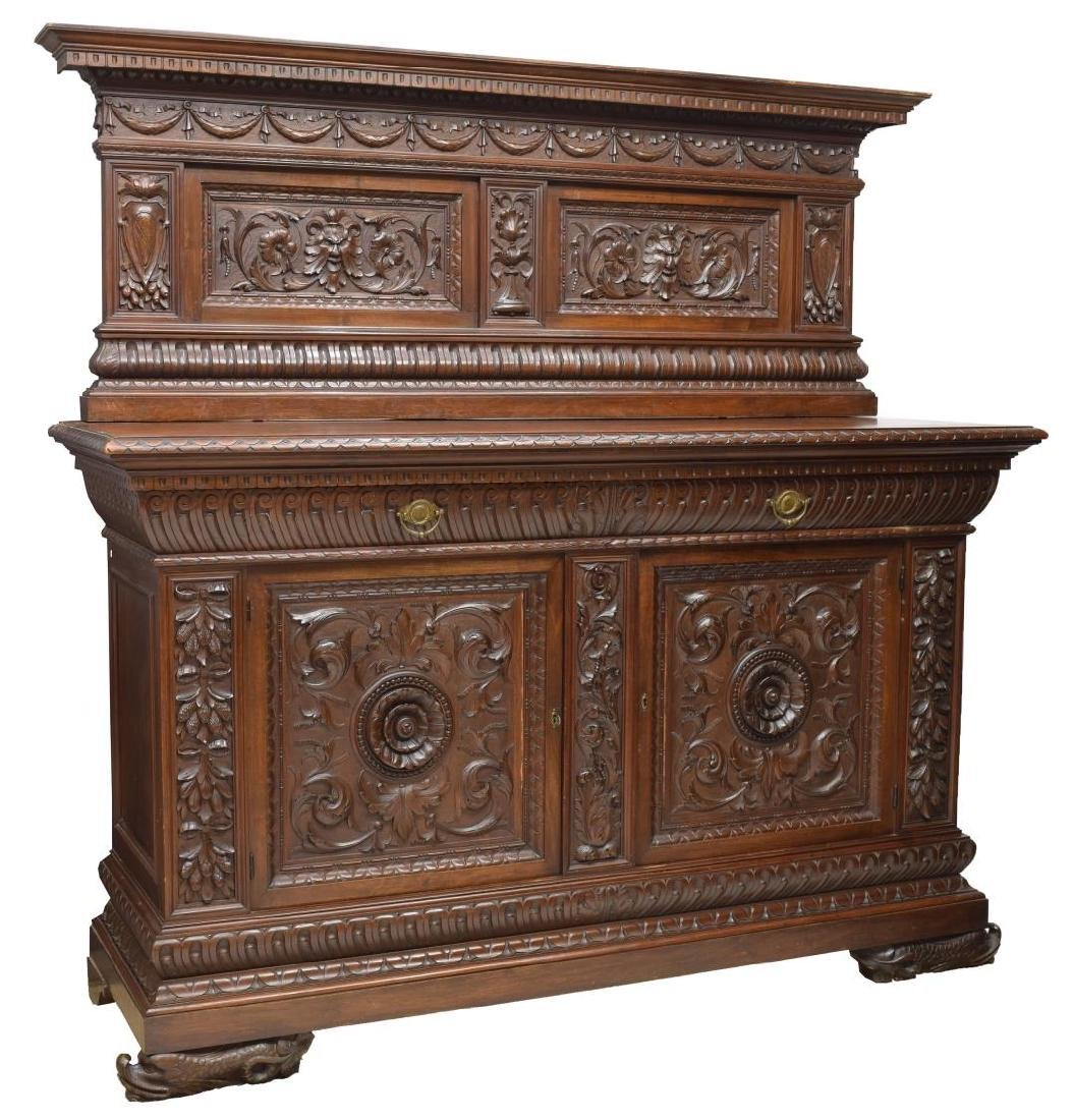 ITALIAN RENAISSANCE REVIVAL CARVED SIDEBOARD