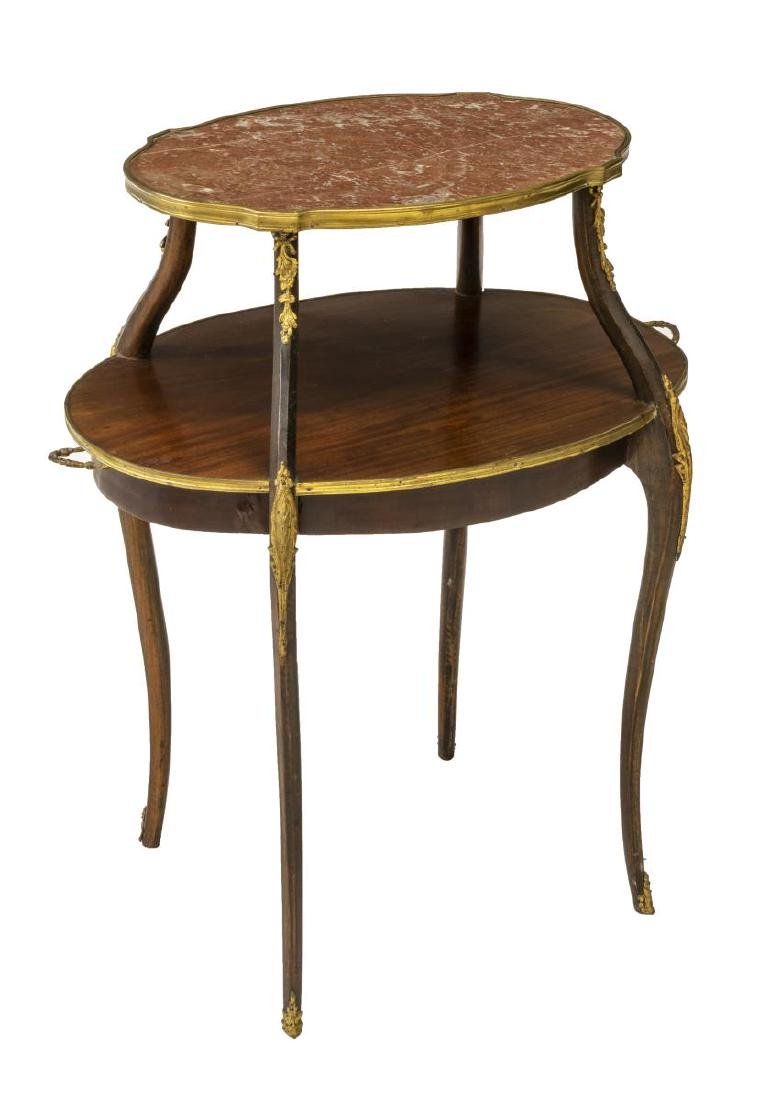 FRENCH TWO TIER SERVING TEA TABLE
