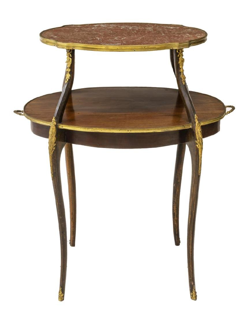 FRENCH TWO TIER SERVING TEA TABLE - 2