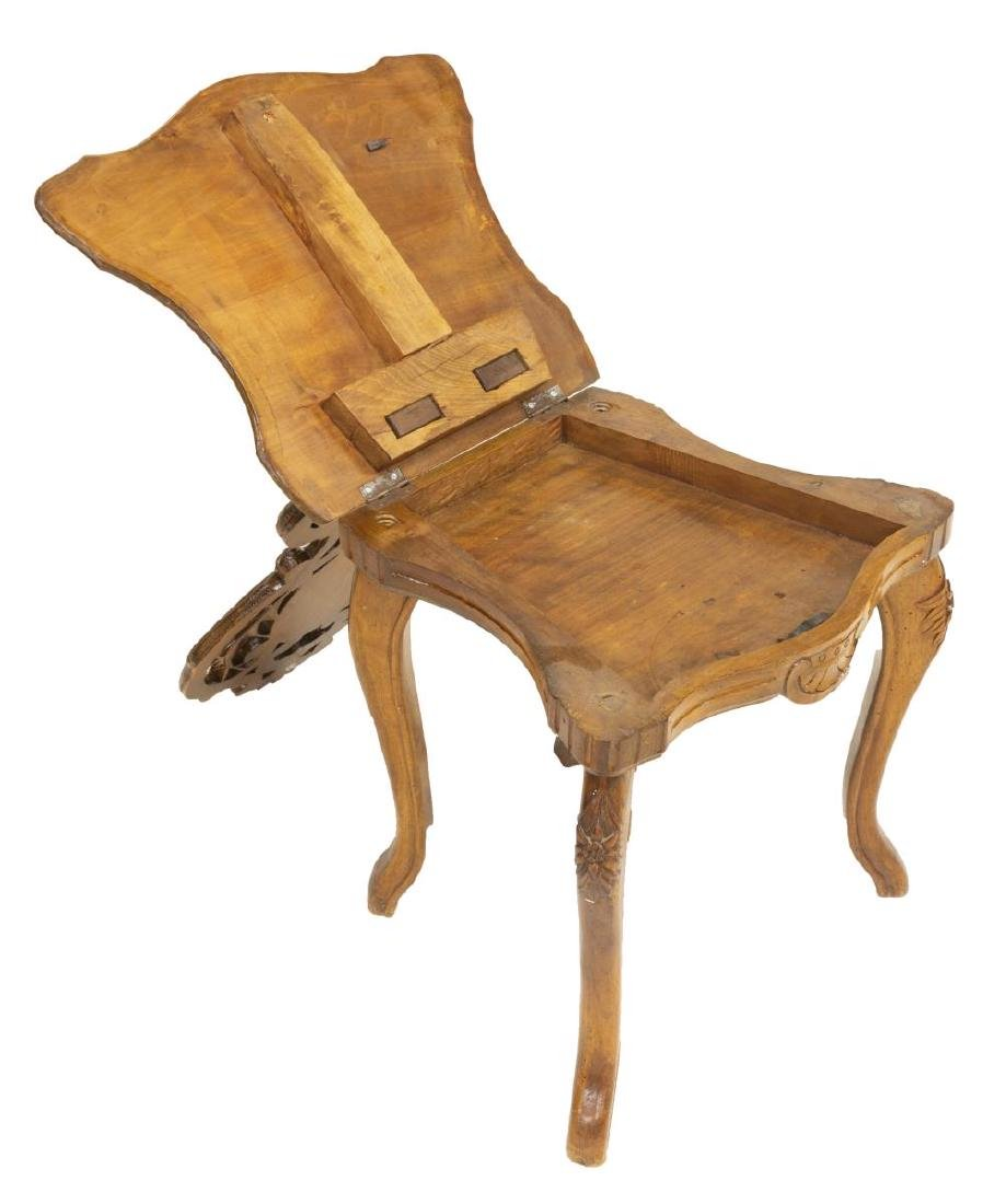 (2) BLACK FOREST FIGURAL MARQUETRY SIDE CHAIRS - 4