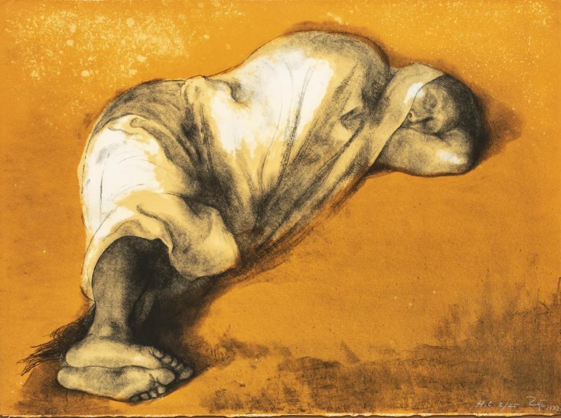 FRANCISCO ZUNIGA (1912-1988) FRAMED LITHOGRAPH