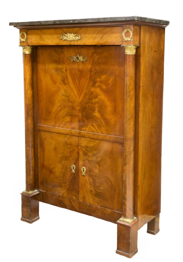 FRENCH EMPIRE STYLE MAHOGANY SECRETARY ABBATTANT