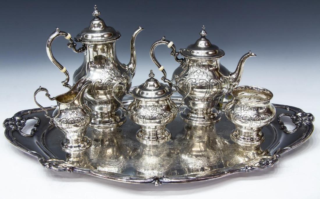 (6) GORHAM 'CHANTILLY' STERLING SILVER TEA SET