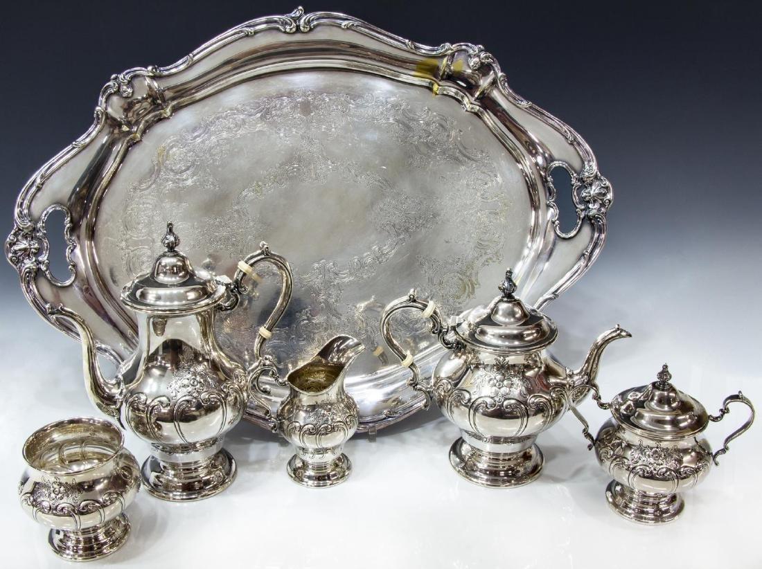 (6) GORHAM 'CHANTILLY' STERLING SILVER TEA SET - 2