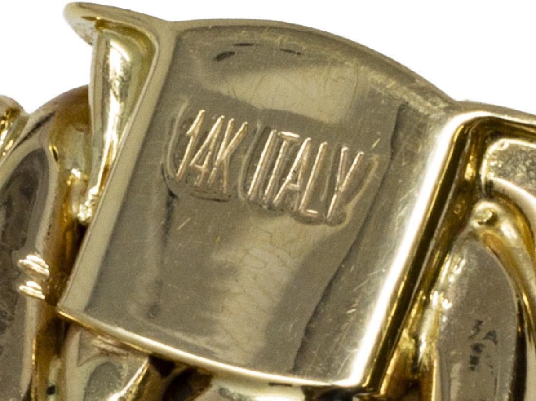 ESTATE ITALIAN 14KT YELLOW GOLD WOVEN BRACELET - 4