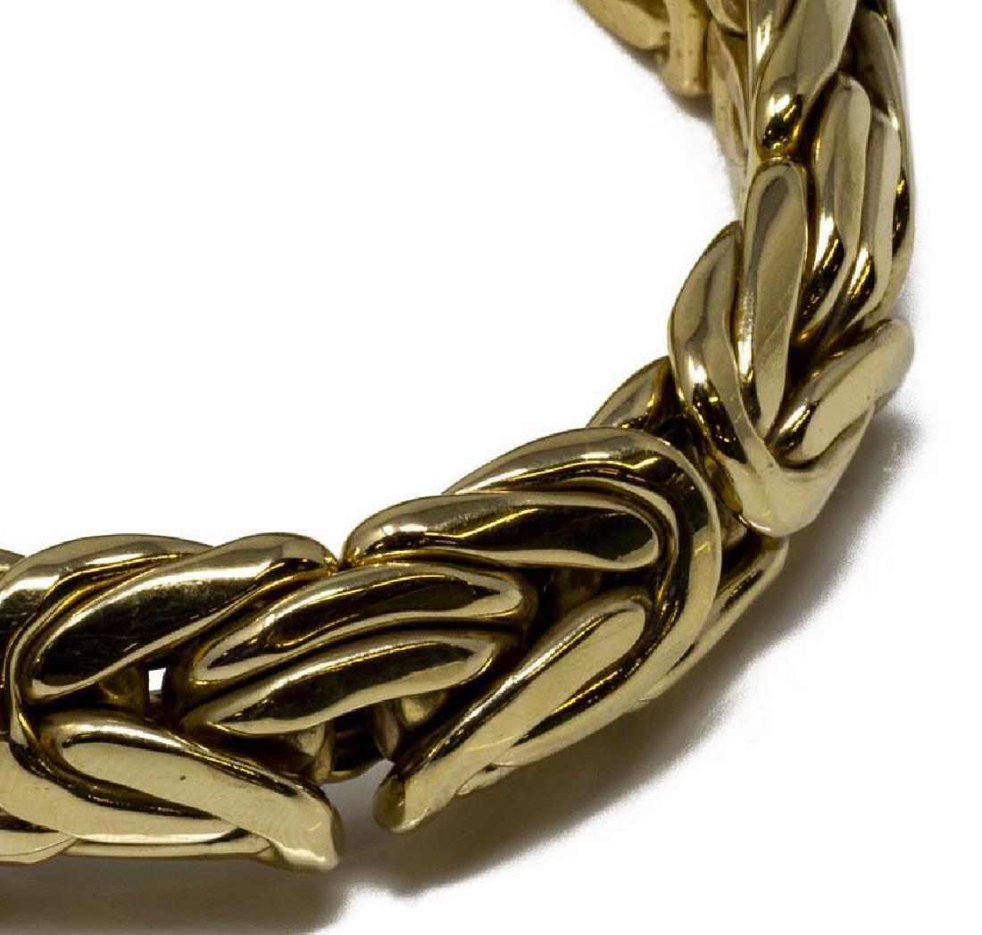 ESTATE ITALIAN 14KT YELLOW GOLD WOVEN BRACELET - 6