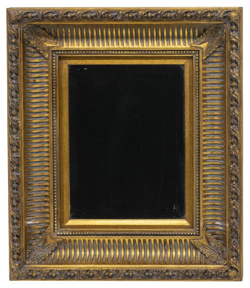 (2) ENGLISH CARVED GILT WOOD WALL MIRRORS - 2