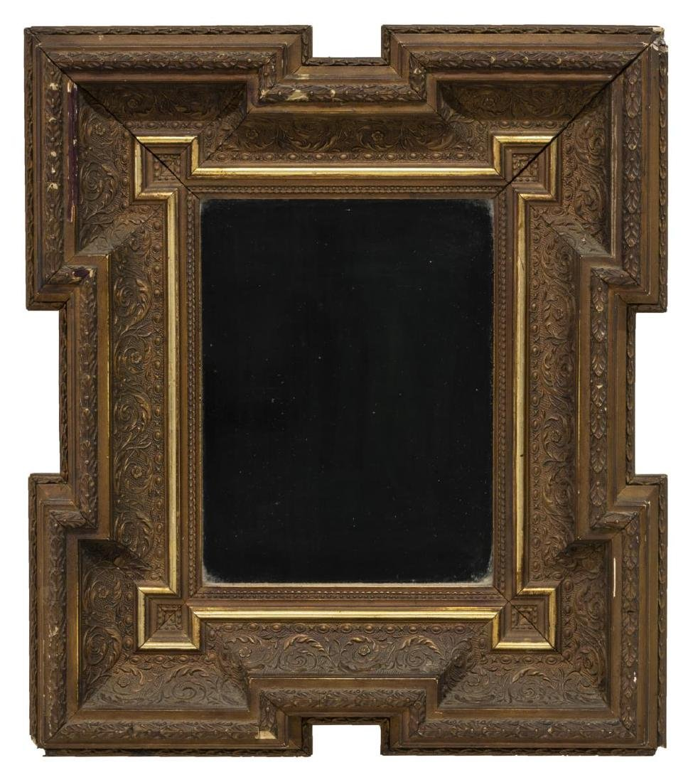(2) ENGLISH CARVED GILT WOOD WALL MIRRORS - 3
