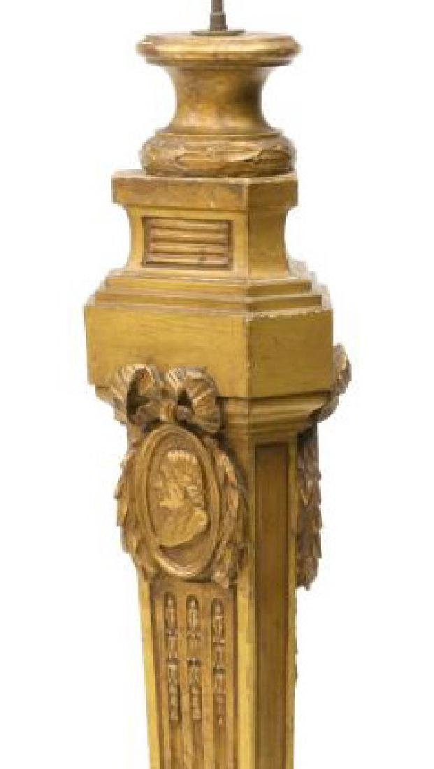 CONTINENTAL GILTWOOD STANDING FLOOR LAMP
