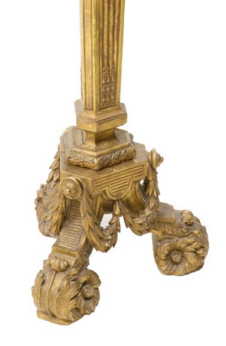 CONTINENTAL GILTWOOD STANDING FLOOR LAMP - 3