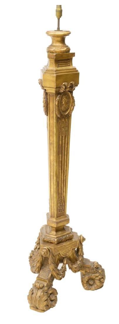 CONTINENTAL GILTWOOD STANDING FLOOR LAMP - 4