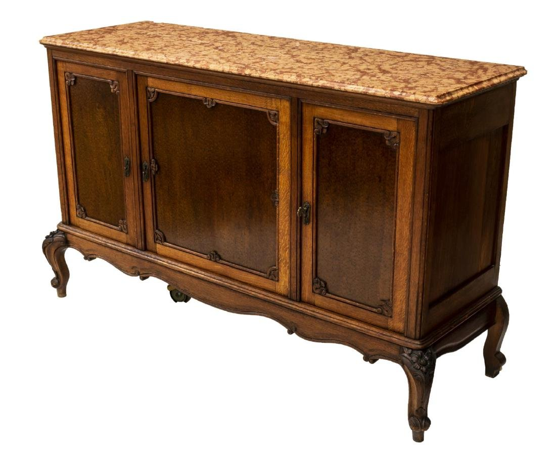 FRENCH LOUIS XV STYLE MARBLE TOP SIDEBOARD