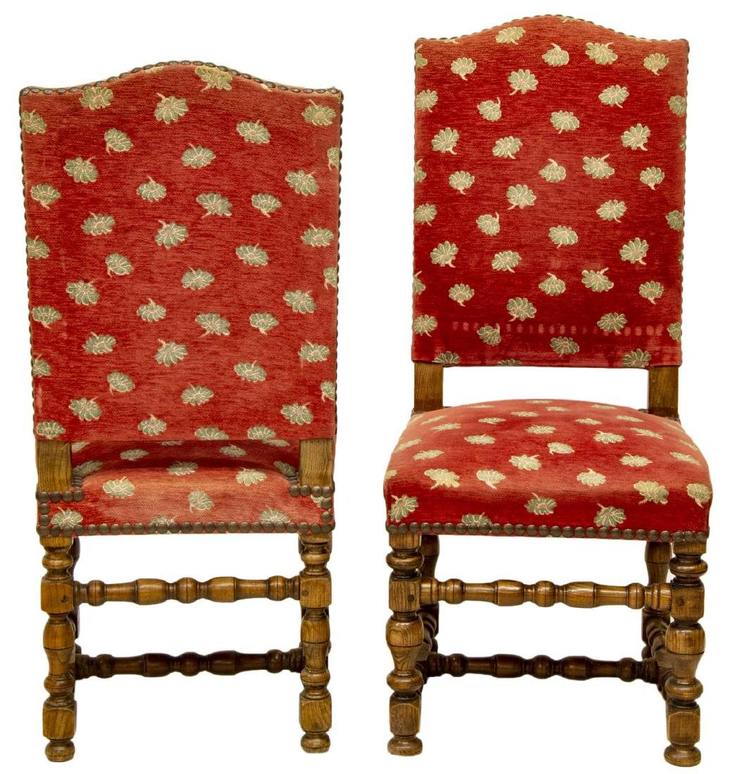 (6) FRENCH LOUIS XIII STYLE DINING CHAIRS - 2