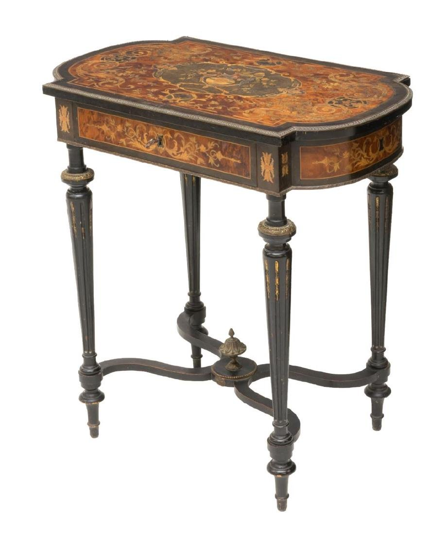 FRENCH NAPOLEON III MARQUETRY DRESSING TABLE