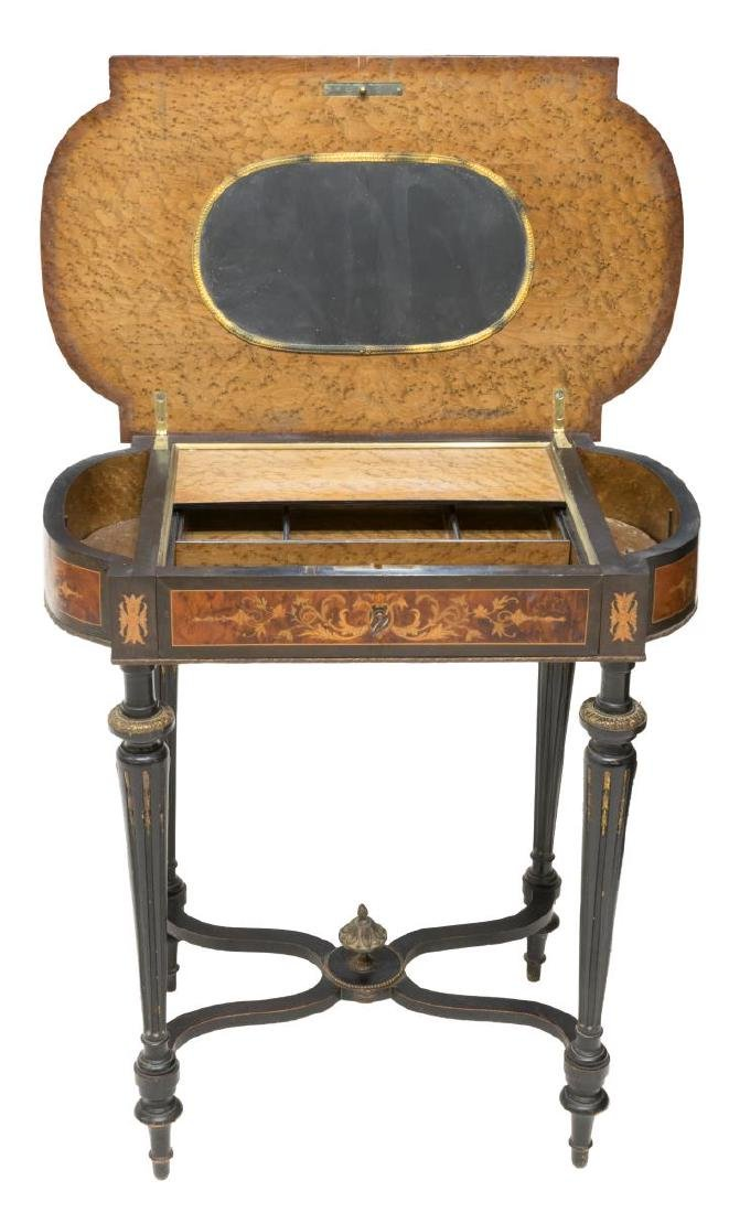 FRENCH NAPOLEON III MARQUETRY DRESSING TABLE - 3