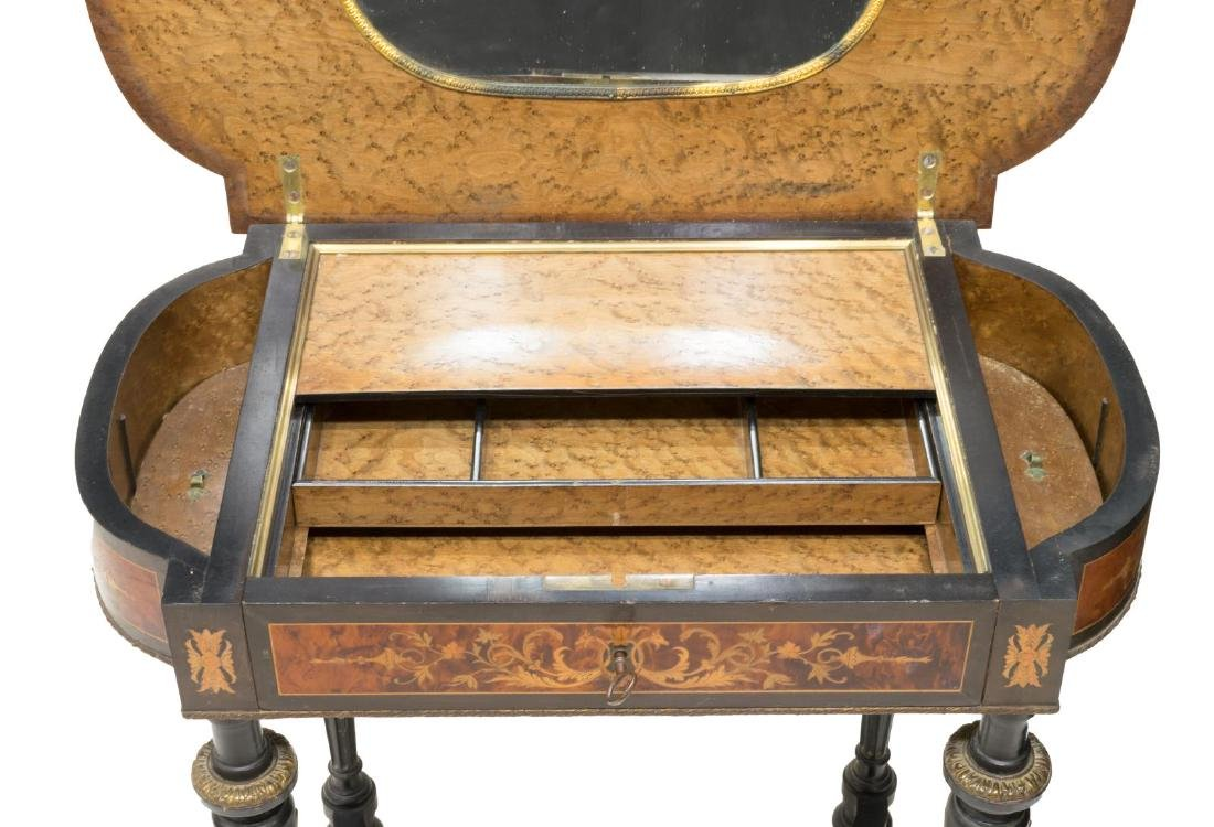 FRENCH NAPOLEON III MARQUETRY DRESSING TABLE - 4