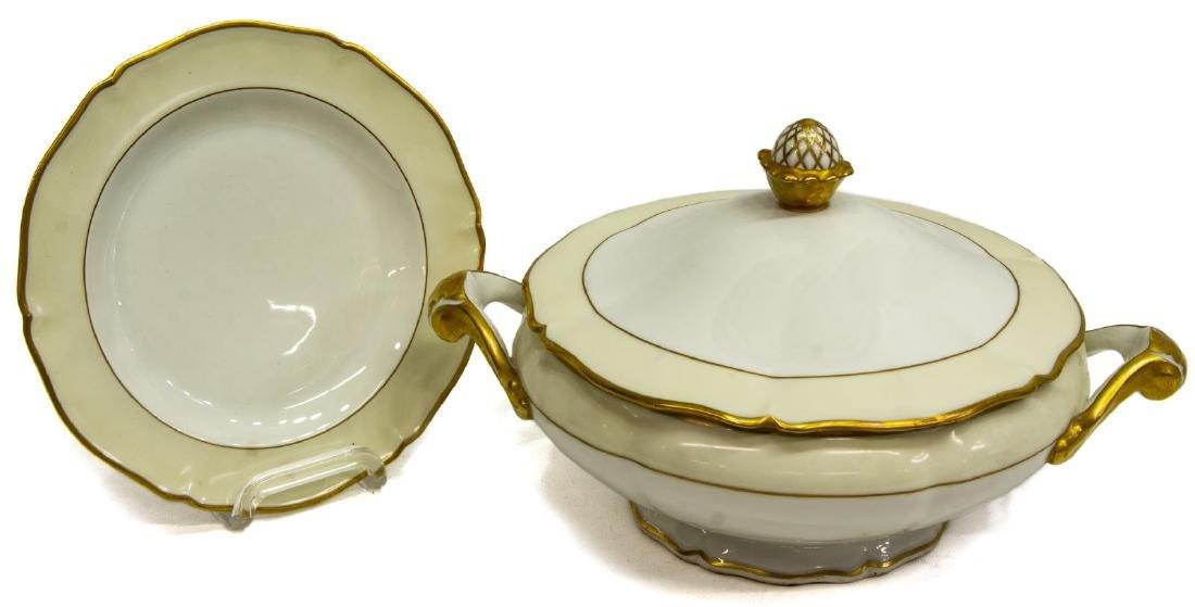 (55) FRENCH LIMOGES GILT PORCELAIN DINNER SERVICE - 2