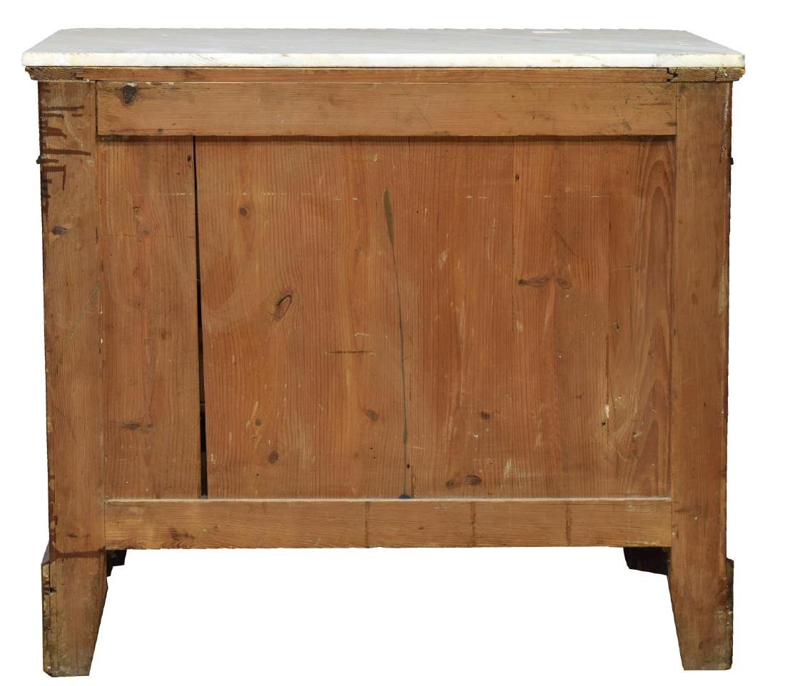 FRENCH CHARLES X FOUR DRAWER MARBLE TOP COMMODE - 4