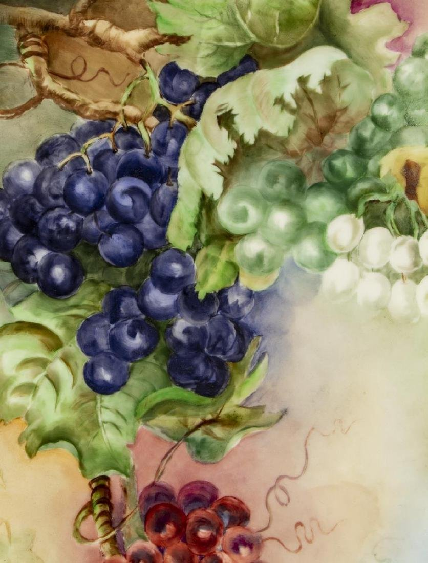 LARGE LIMOGES GRAPEVINE PAINTED CHARGER, 1907 - 2