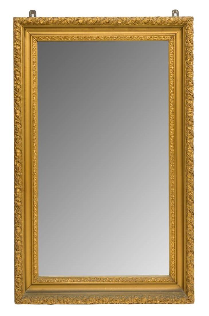 FRENCH FRUIT & FOLIATE CARVED GILDED WALL MIRROR