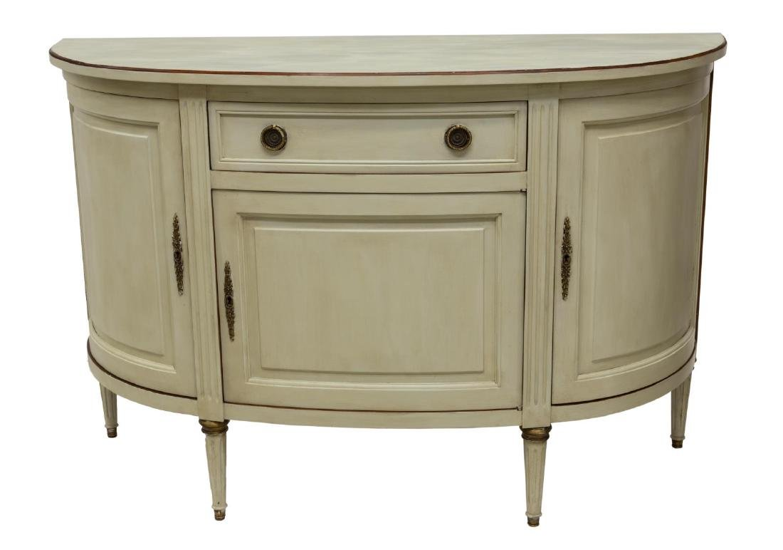 FRENCH LOUIS XVI PAINTED CONSOLE