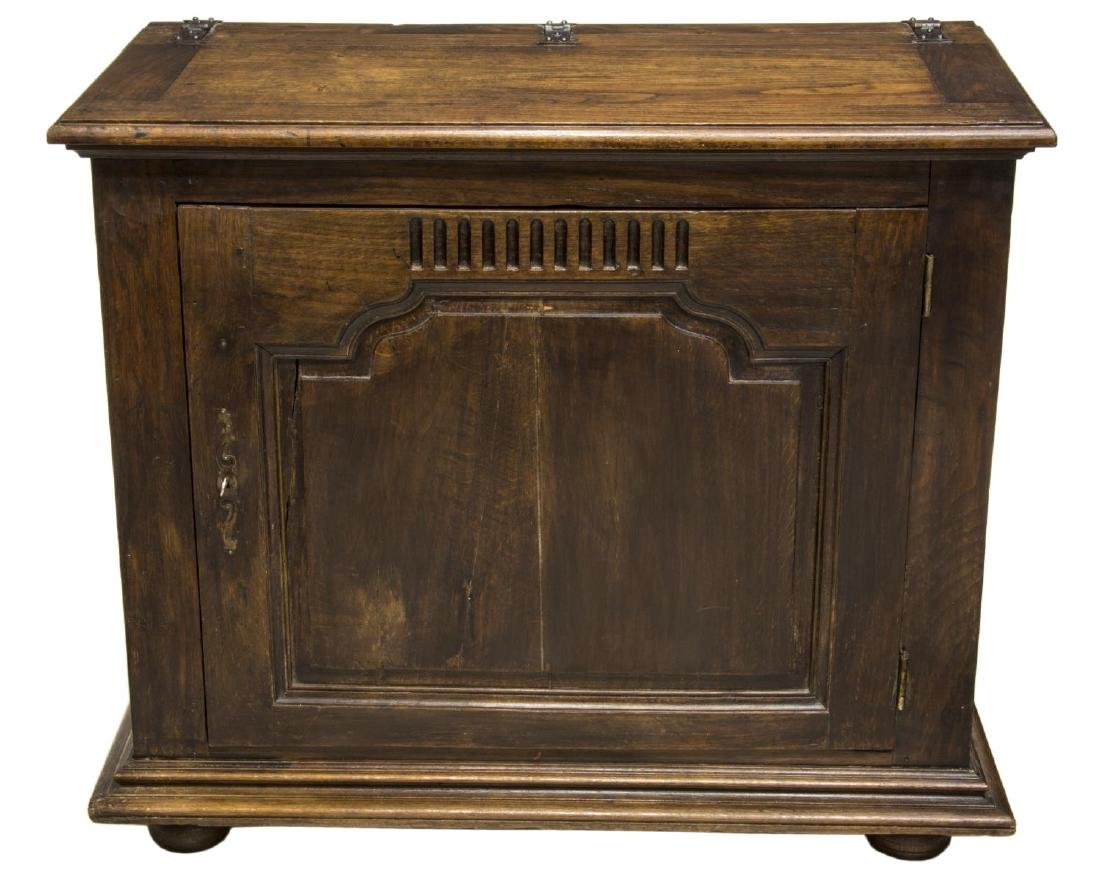 FRENCH LOUIS XVI STYLE CARVED OAK COFFER, C. 1850 - 2
