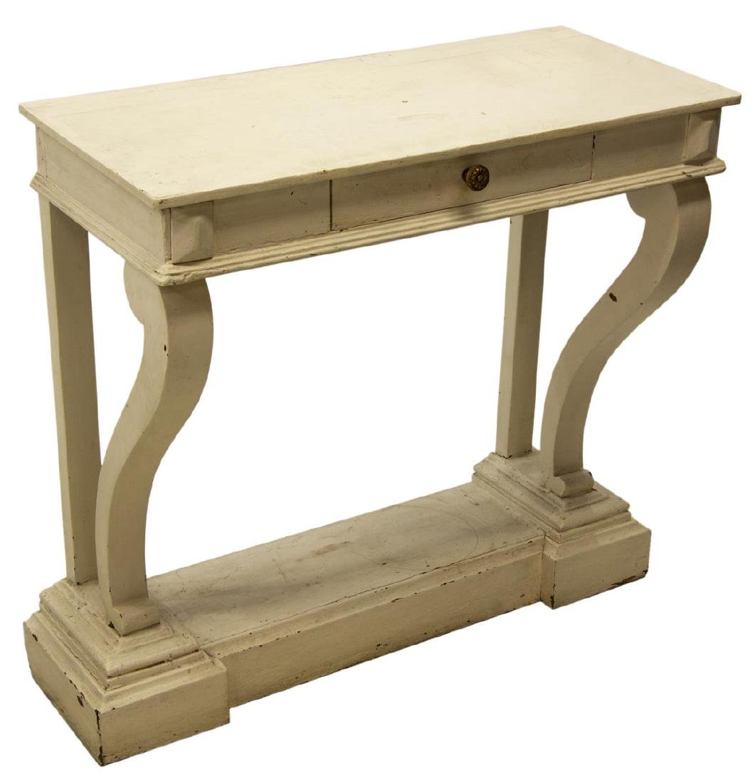 CONTINENTAL CONSOLE TABLE IN WHITE PAINT