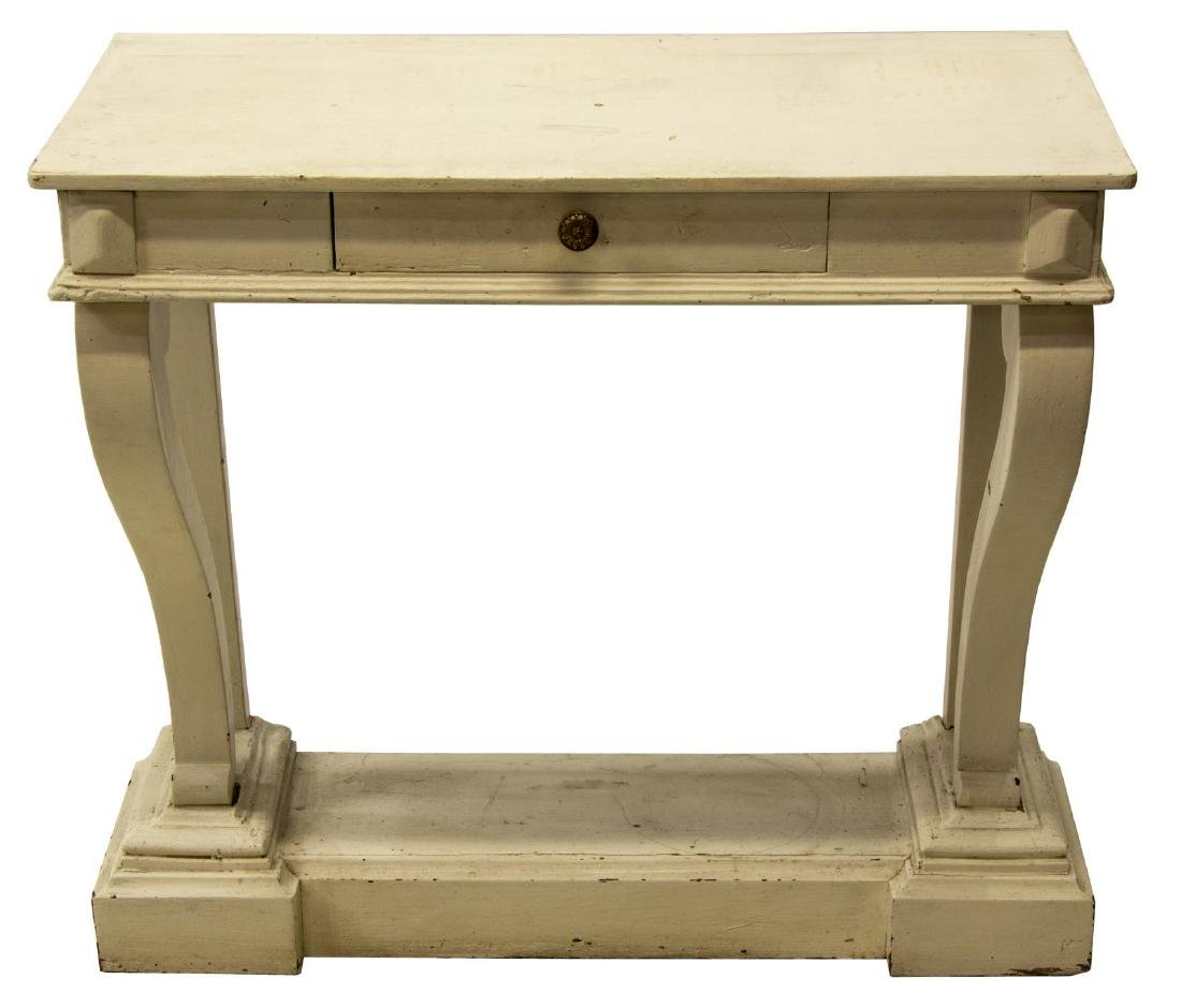 CONTINENTAL CONSOLE TABLE IN WHITE PAINT - 2