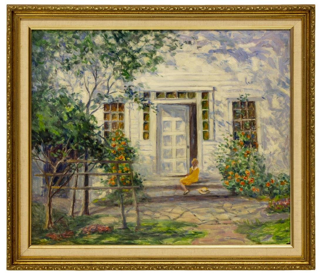LOUISE M. KAMP (1867-1959) OIL ON BOARD PAINTING - 2