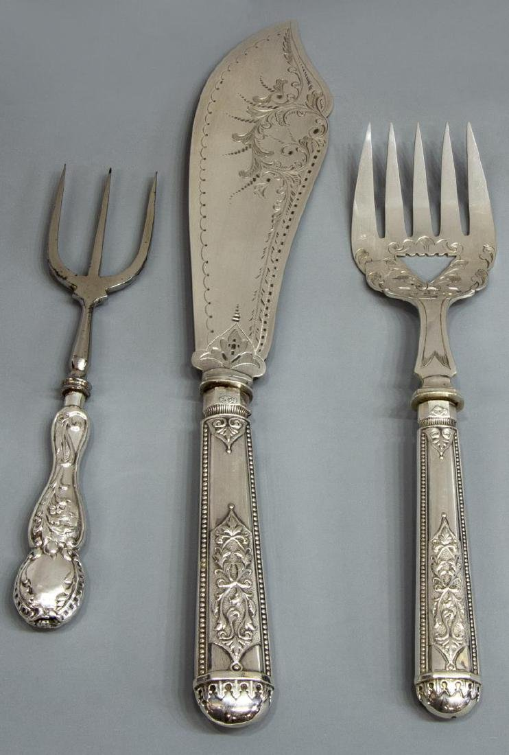 (15) COLLECTION OF STERLING, SILVERPLATE TABLEWARE - 2