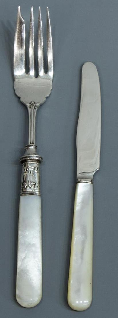 (18) STERLING SILVER & MOTHER OF PEARL FLATWARE - 2