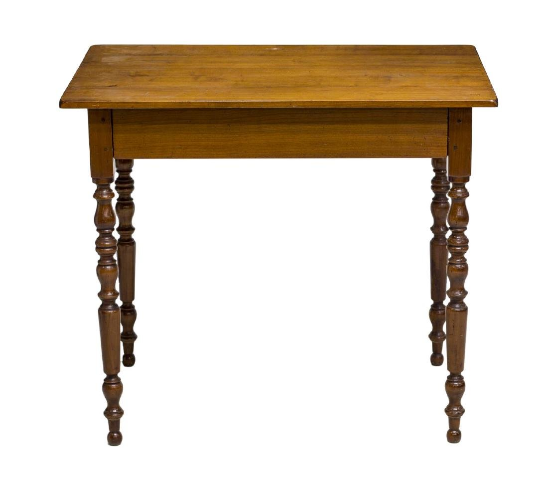 FRENCH OCCASIONAL TABLE W/HIDDEN TRIM DRAWER - 2
