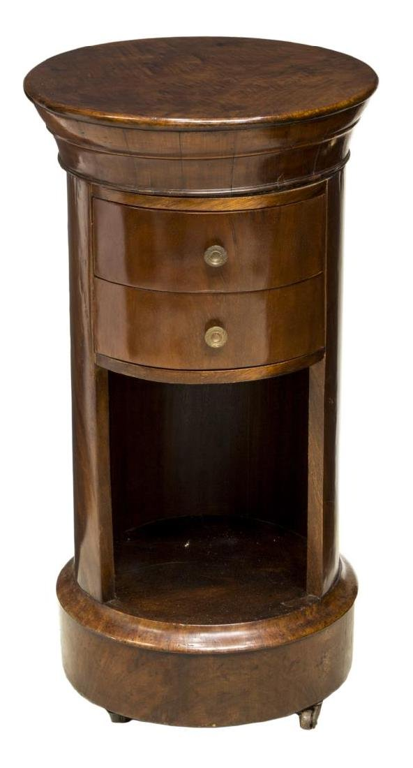 FRENCH EMPIRE STYLE CYLINDRICAL BEDSIDE CABINET - 2