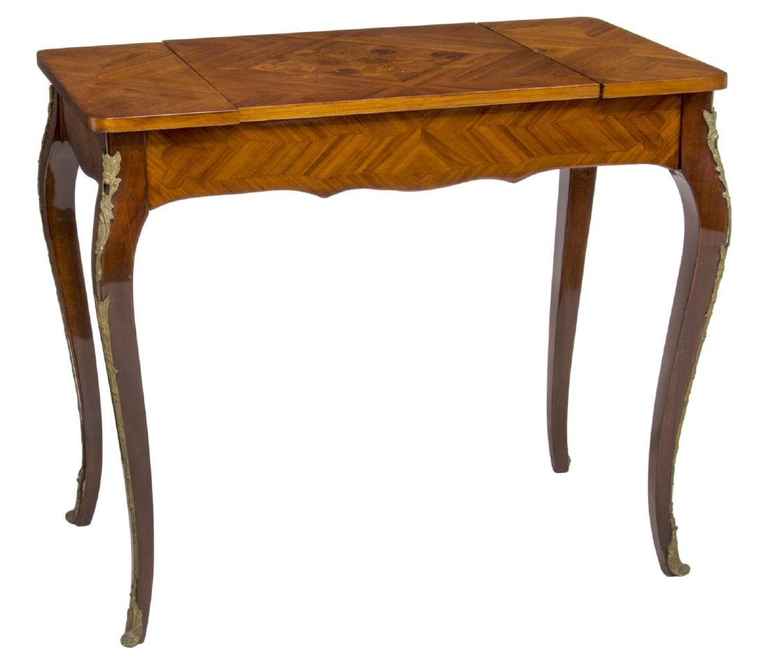 LOUIS XV STYLE MARQUETRY MAHOGANY GAMES TABLE