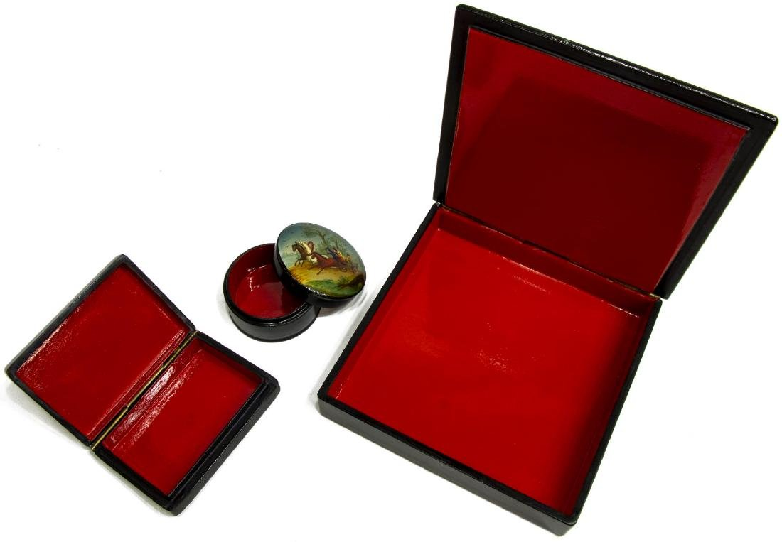 (3) RUSSIAN PAINTED & LACQUERED BOXES, USSR - 5