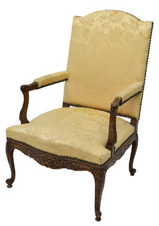 FRENCH LOUIS XV STYLE FAUTEUIL, ARM CHAIR