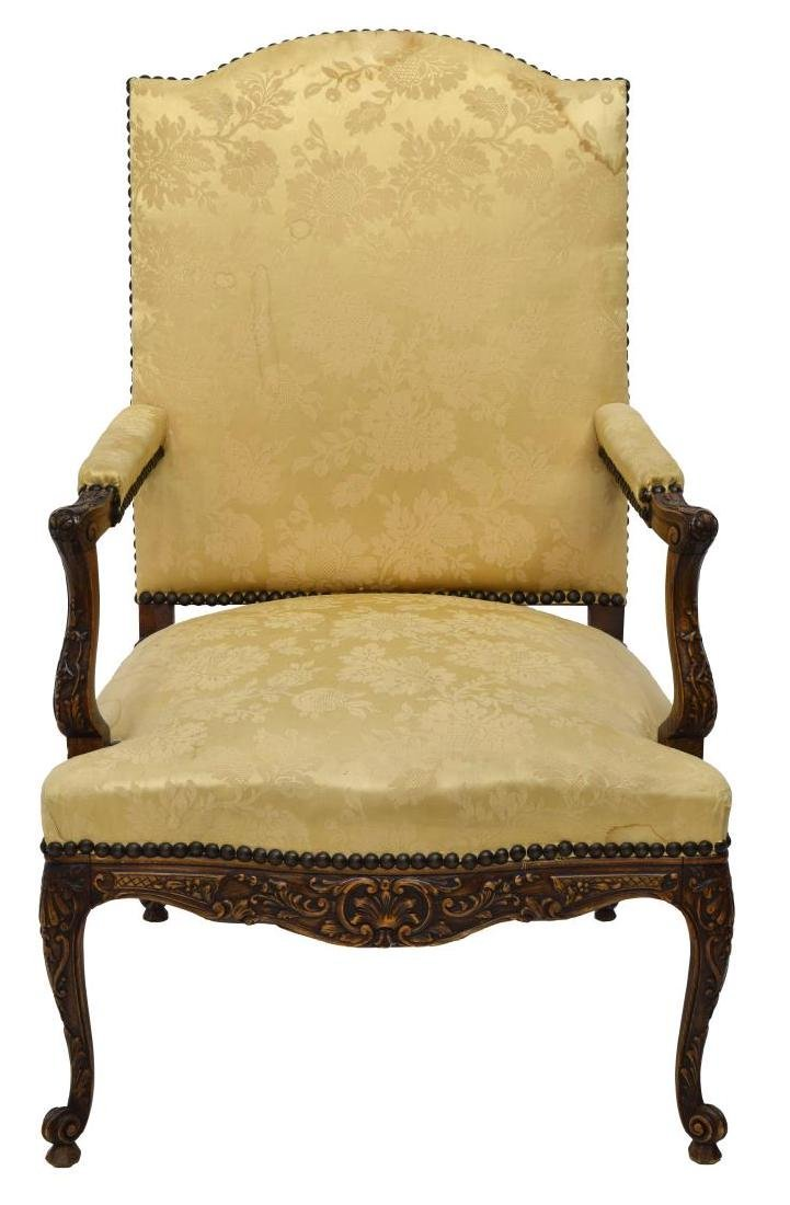 FRENCH LOUIS XV STYLE FAUTEUIL, ARM CHAIR - 2
