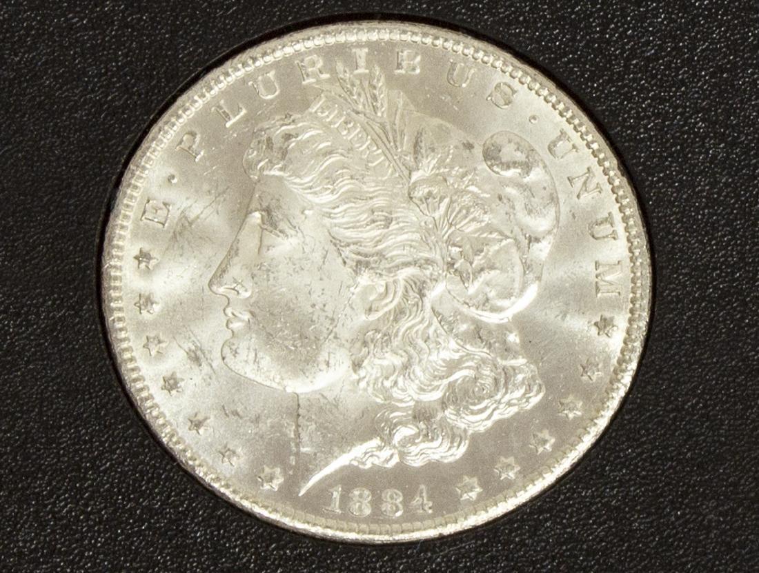 1884 UNCIRCULATED CARSON CITY SILVER DOLLAR - 2