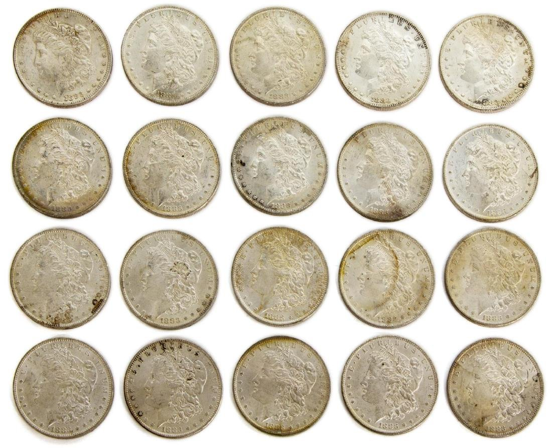 (20) U.S. BU UNCIRUCLATED SILVER DOLLARS, 1881S