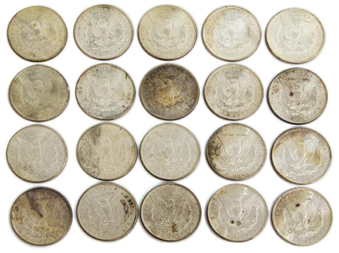 (20) U.S. BU UNCIRCULATED SILVER DOLLARS, 1886 - 2